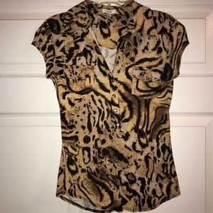 Cache - Small - Animal Print Top